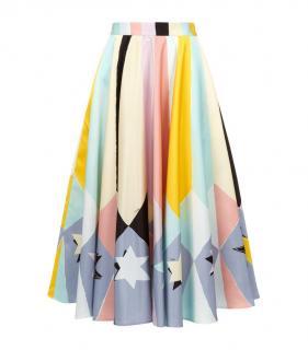 Emilio Pucci Archive Collection Printed Silk Midi Skirt