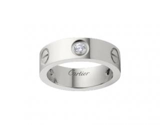 Cartier Love Ring in White Gold, 3 Diamonds