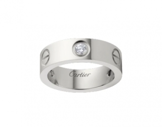 Cartier Love Ring in White Gold, 3 Diamonds