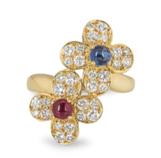 Van Cleef & Arpels Ruby & Sapphire Diamond Ring
