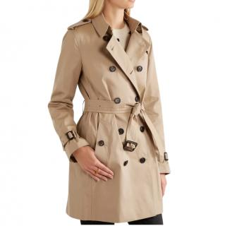Burberry The Kensington Mid Cotton-gabardine Trench Coat