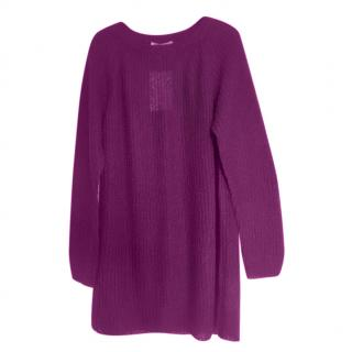 Max Mara Purple Mohair & Wool Jumper