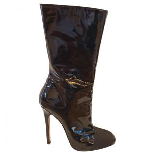 Giambattista Valli Black Patent Leather Boots
