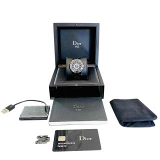 Dior VIII 39mm Black Ceramic Diamond Watch