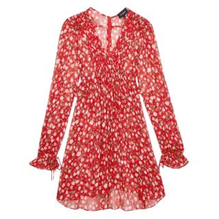 The Kooples Red Ruffled Rosa Rosa Dress