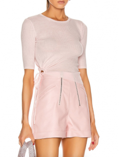 T by Alexander Wang Blush Merino Wool Ruched Top