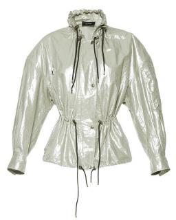 Isabel Marant silver long-sleeve metallic cotton blend jacket