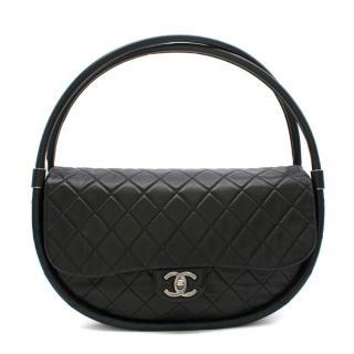 Chanel Black Lambskin Medium Wind Power Hula Hoop Bag