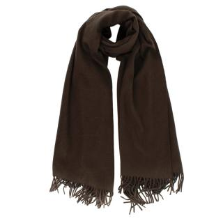 Hermes Chocolate Brown Shawl