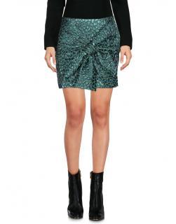 Faith Connexion metallic jacquard leopard mini skirt