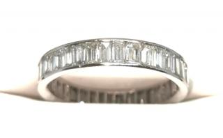 Bespoke 18ct white gold & diamond eternity ring