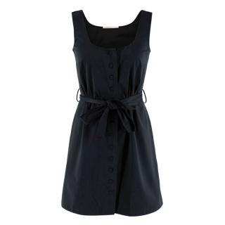 Emilia Wickstead Black Sleeveless Button-Up Dress