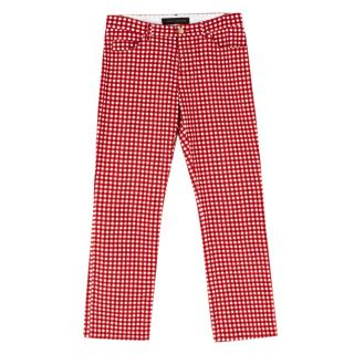 Louis Vuitton Red Gingham Trousers