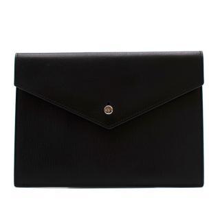 Saint Laurent Black Flat Envelope Clutch