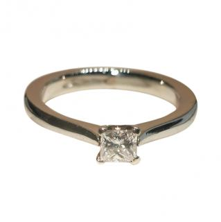 Dom platinum & princess diamond solitaire ring