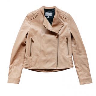 Mulberry camel leather biker jacket