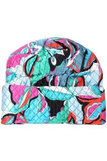 Emilio Pucci multicoloured printed quilted silk blend beanie hat