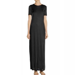 The Row Black Short Sleeve Maxi Dress