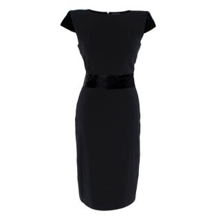 Tom Ford Velvet Belt Black Tailored Dress