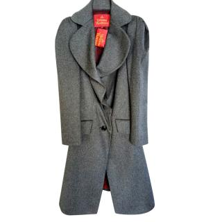 Vivienne Westwood Anglomania grey wool long coat