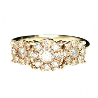 MJL 9ct yellow gold & diamond cluster ring