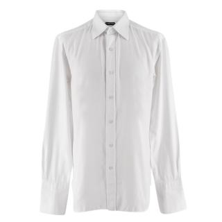 Tom Ford White Long-sleeve Cotton Tailored Shirt