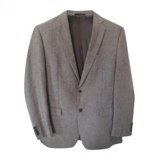 Lauren Ralph Lauren brown check single breasted blazer