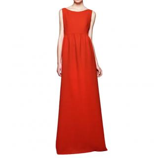 Roksanda Ilincic orange textured wool crepe gown