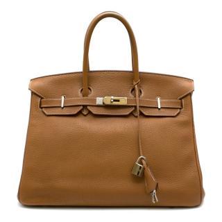 Herm�s Birkin 35 in Gold Togo Leather GHW