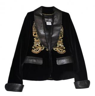 Chanel Mtiers Art Paris Shanghai 10A black velvet jacket