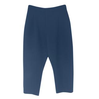 Marni navy cropped trousers