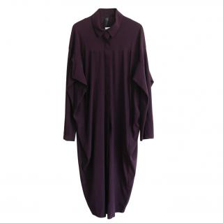 Zero+ Maria Cornejo purple silk blend knee length dress