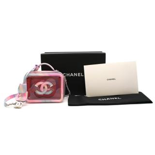 Chanel Small Vanity Case in PVC and Pastel Calfskin