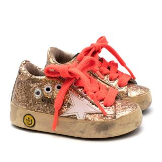 Golden Goose Deluxe Brand Gold Glitter Superstar Trainers
