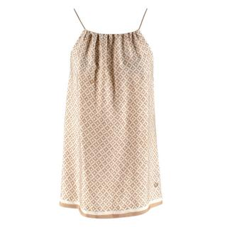 Loro Piana Silk Patterned Drawstring Top