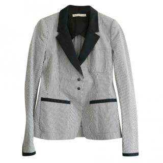 Balenciaga Striped Seersucker Blazer