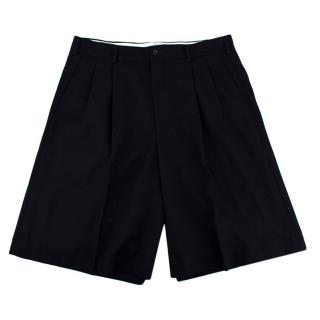 Comme Des Garcon Navy Oversized Shorts