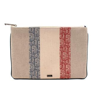 DIor Oblique Stripe Canvas Pouch