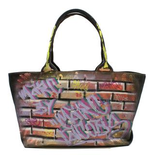 Iena Cruz for Marc by Marc Jacobs Hand painted bag NYC Themathic