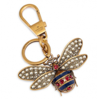 Gucci Queen Margaret Embellished Bee Keychain
