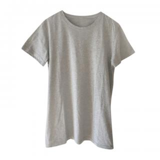 Balmain grey cotton round neck t-shirt