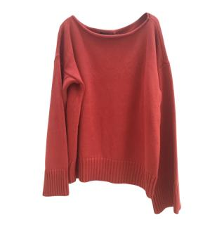 Ralph Lauren red knitted jumper