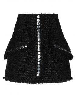 Alexander Wang black tweed mini skirt