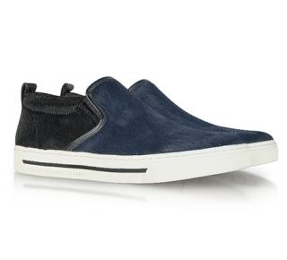 Marc by Marc Jacobs Two-Tone Calf Hair Slip-On Sneakers