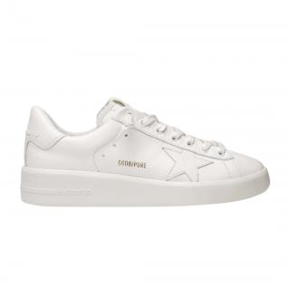 Golden Goose pure star leather white trainers