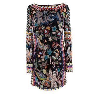 Emilio Pucci Multi-Coloured Beaded Mini Dress - Worn on BGT Final