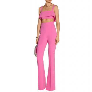 Cushnie Et Ochs Pink Stretch Cady High Waisted Trouser