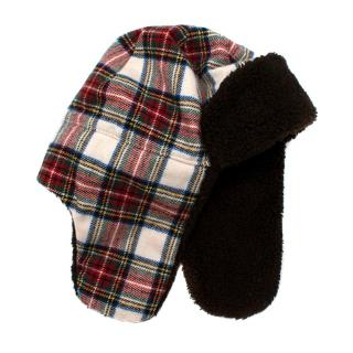Gucci Kids Plaid Trapper Hat