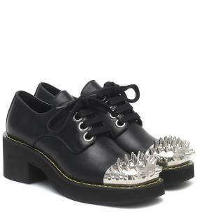 Miu Miu spike embellished leather derby shoes