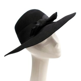 Saint Laurent Black Rabbit Felt Hat